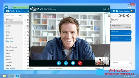 Skærmbillede Skype Windows 8.1