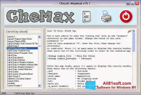 Skærmbillede CheMax Windows 8.1