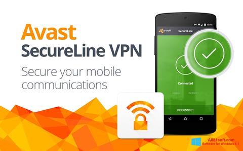 Skærmbillede Avast SecureLine VPN Windows 8.1