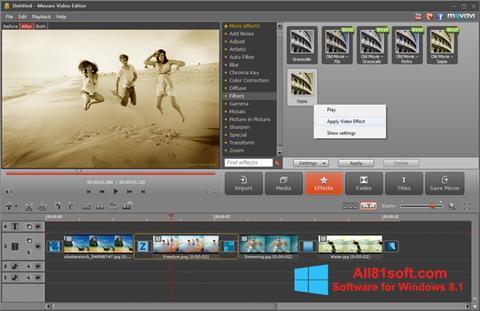 Skærmbillede Movavi Video Editor Windows 8.1